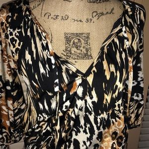 Animal print designer dress